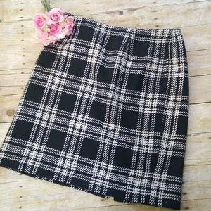 Talbots Plaid Wool Blend Skirt Size 16W